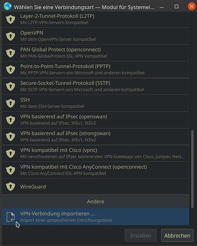 4 VPN importieren